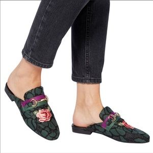 Steve Madden Kandi Lace Floral Embroidered Mules